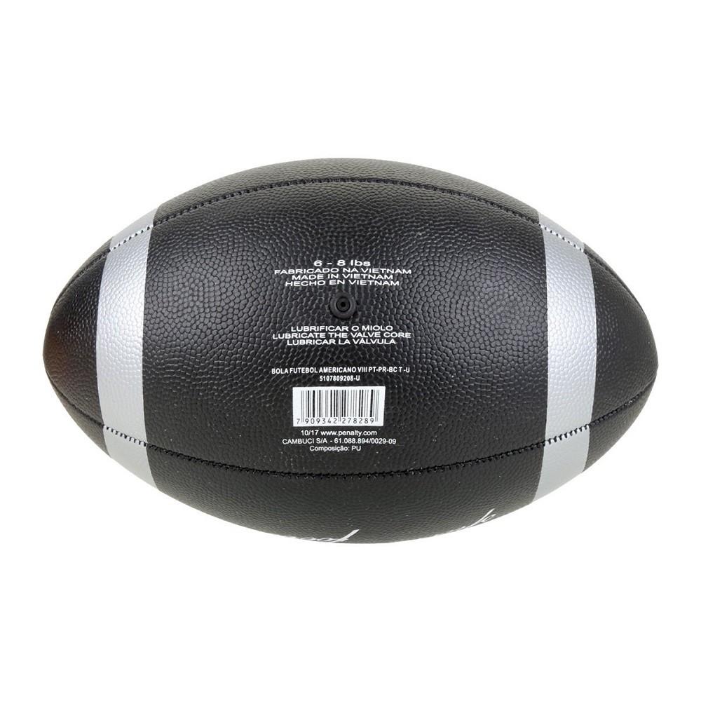 Bola Futebol Americano Penalty VIII Preto Branco