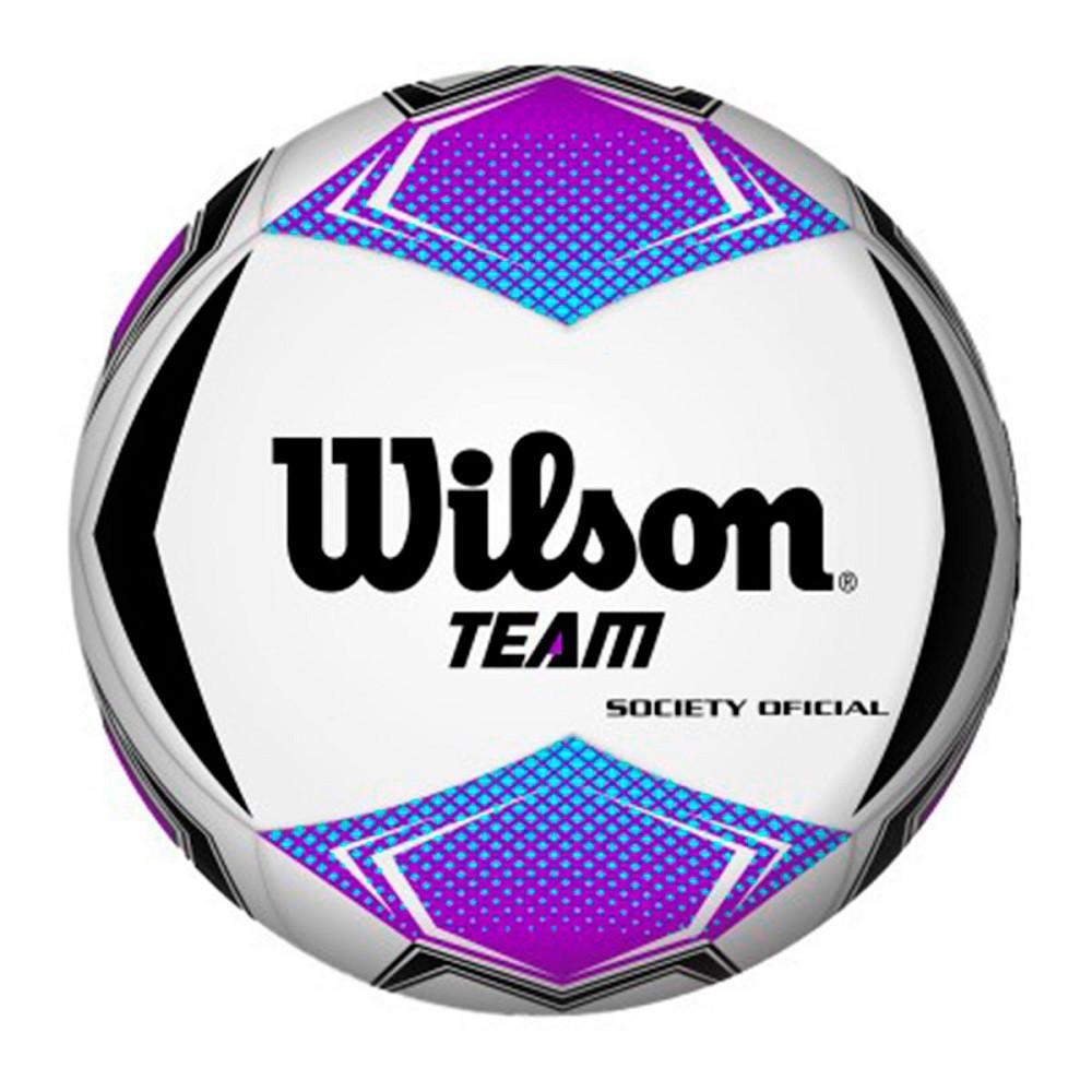 Bola Futebol Society Wilson Team Roxo Preto