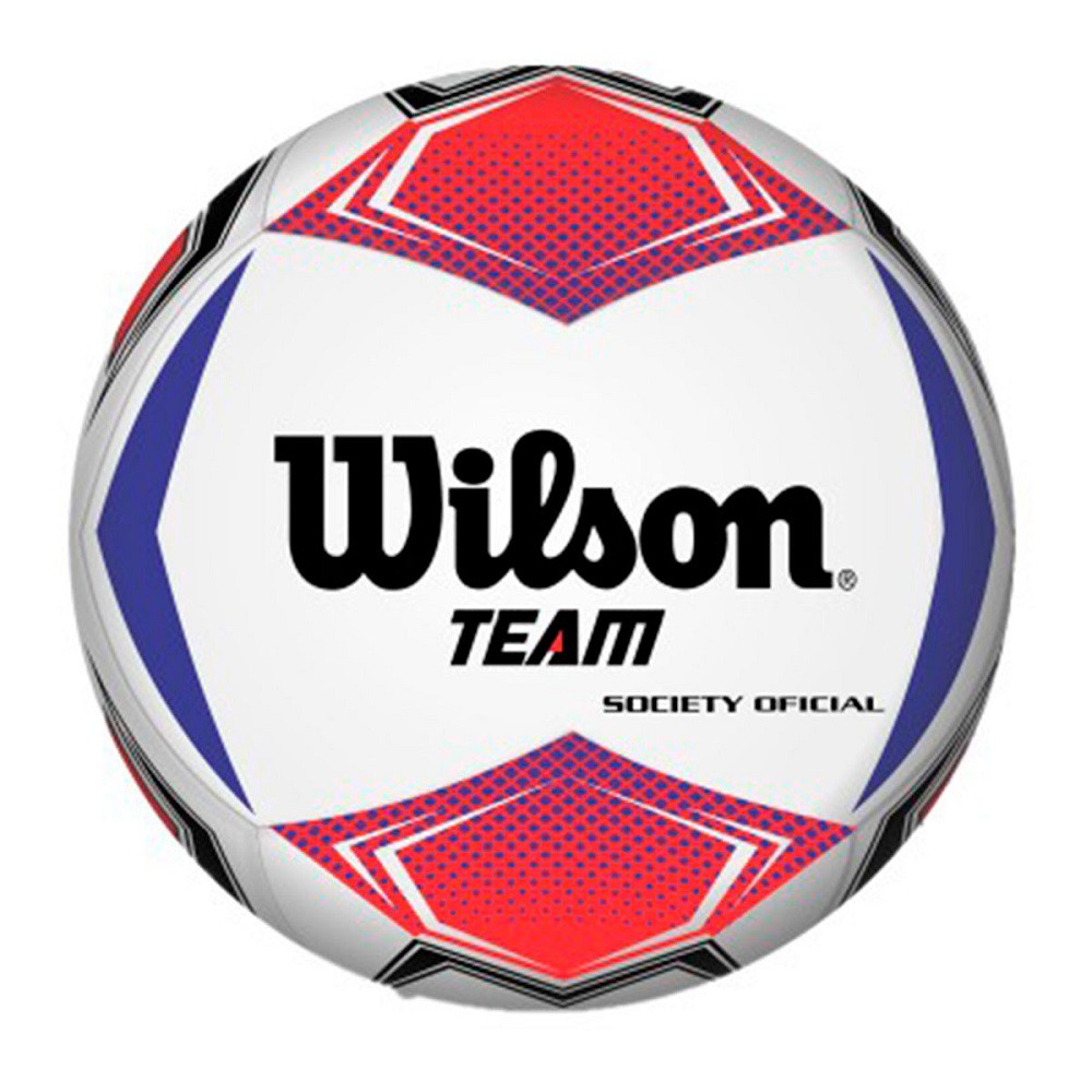 Bola Futebol Society Wilson Team Vermelho Azul