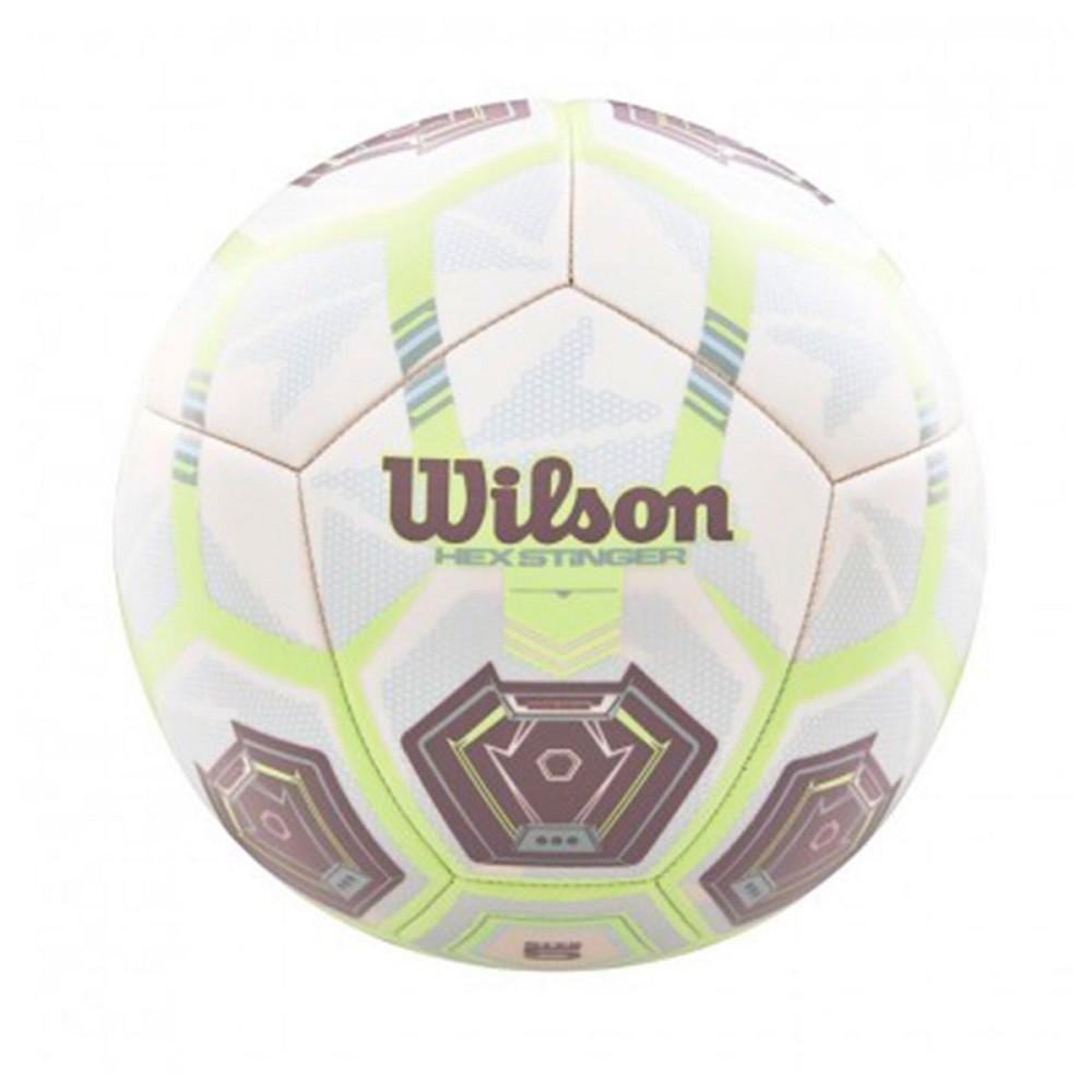 Bola Futebol Wilson Hex Stinger Branco Verde