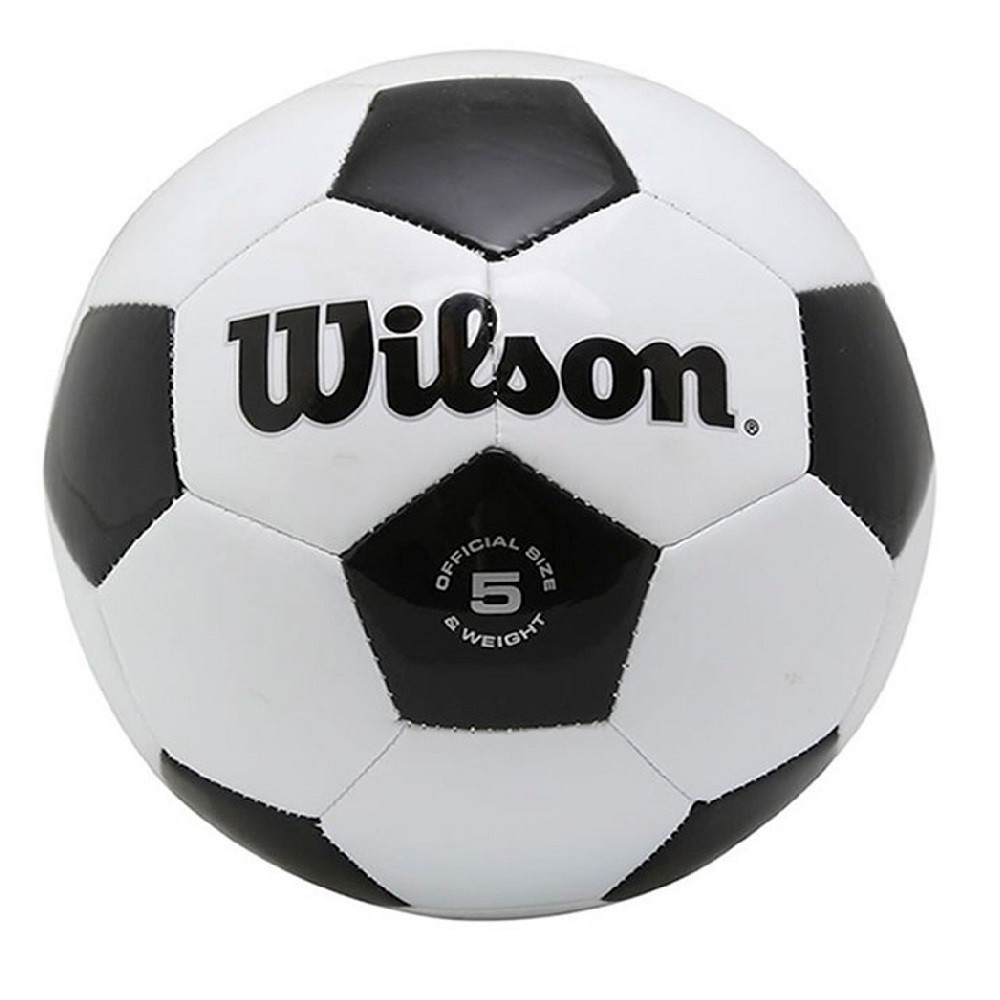 Bola Futebol Wilson Tradicional Preto Branco #5
