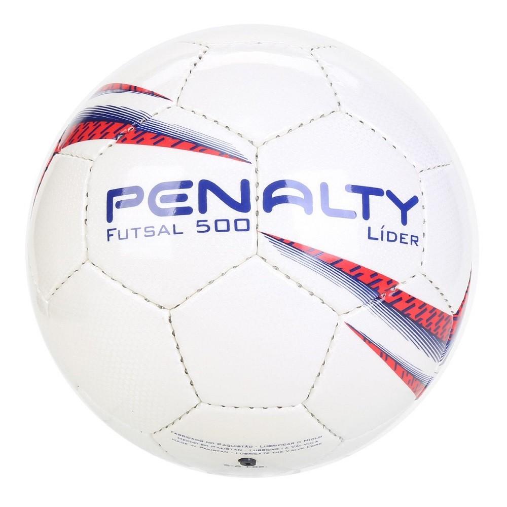 Bola Futsal Penalty Lider X Branco Vermelho