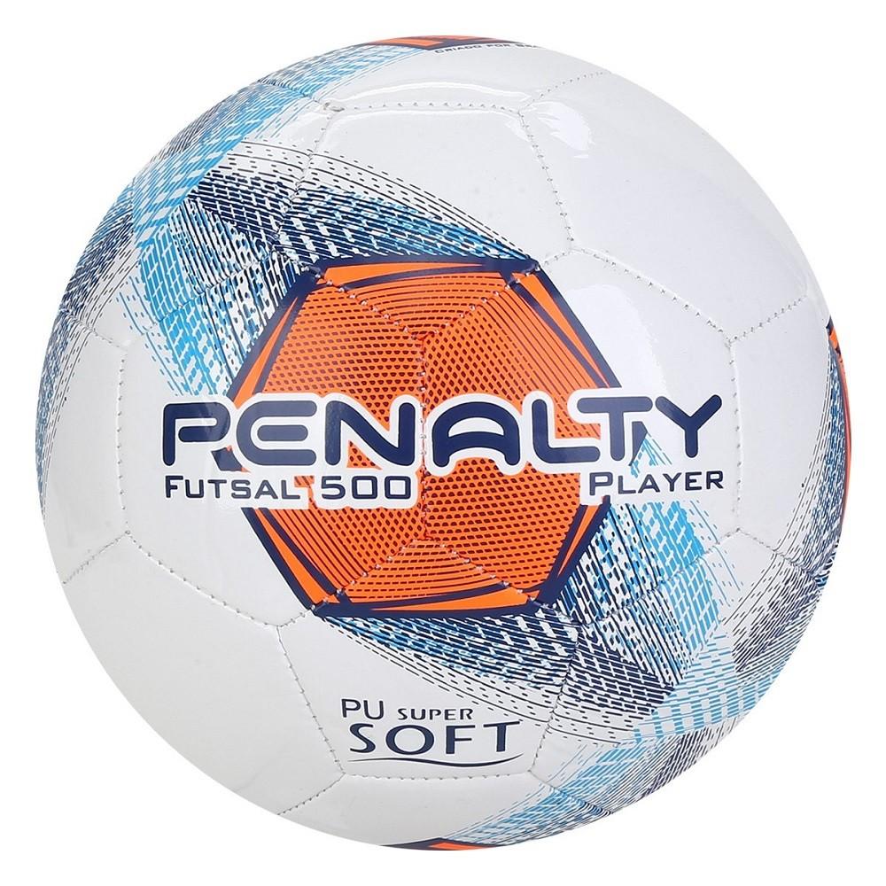 Bola Futsal Penalty Player 500 Bc C/C VIII Branco Marinho