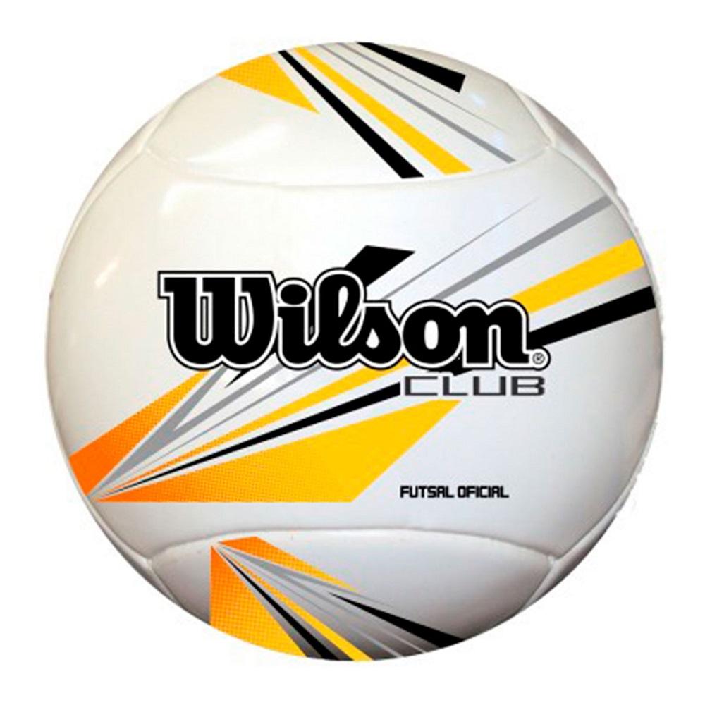 Bola Futsal Wilson Club Amarelo Preto