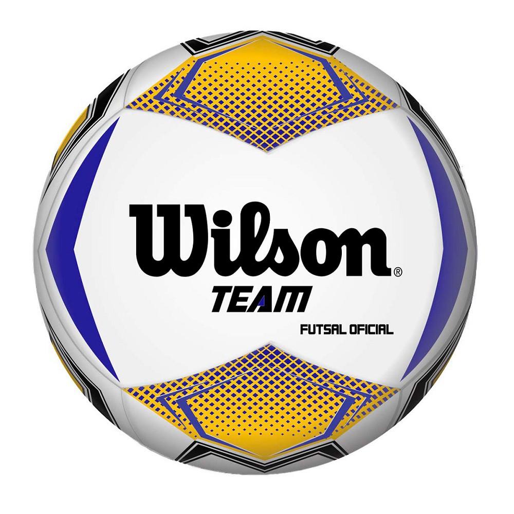 Bola Futsal Wilson Team Amarelo Azul