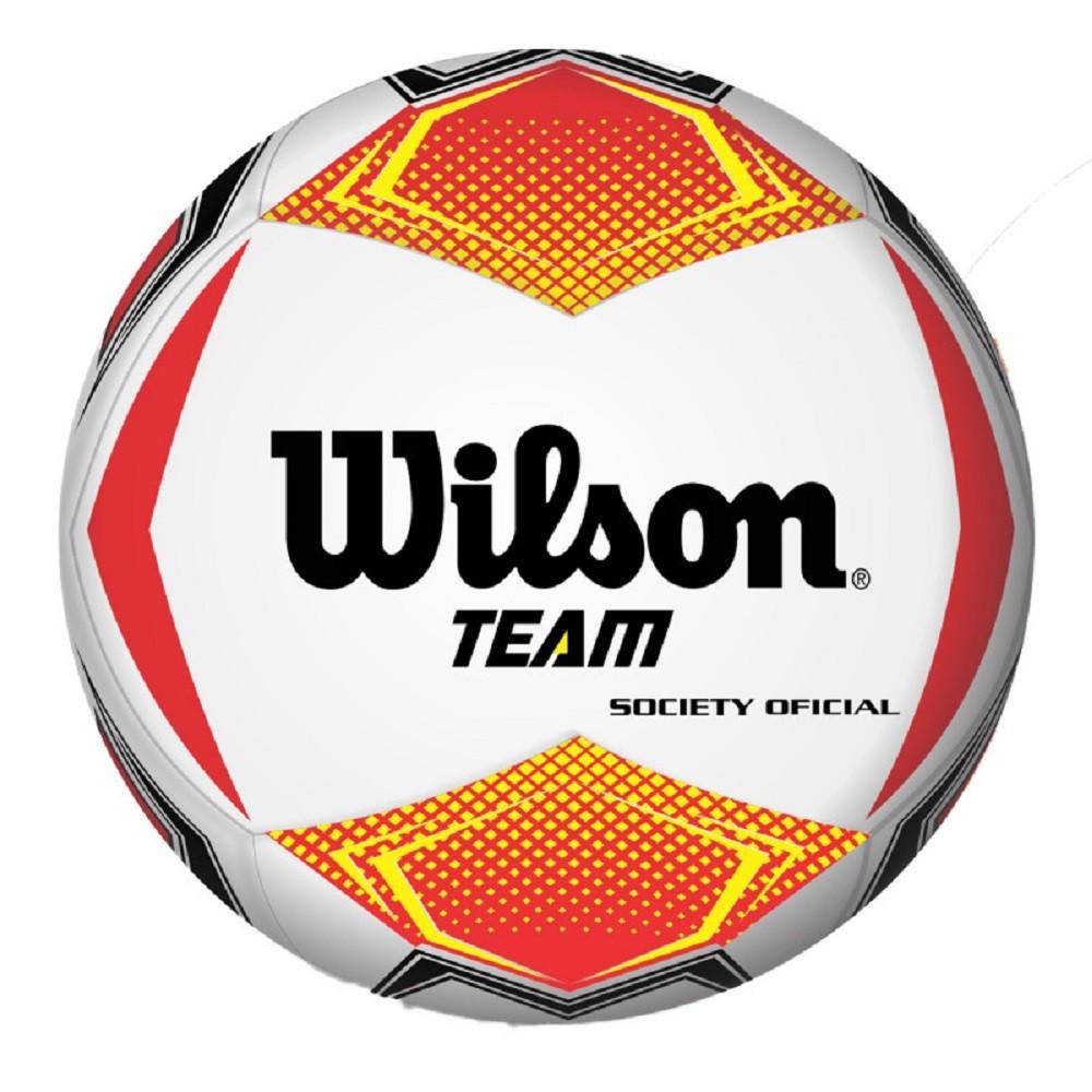 Bola Futsal Wilson Team Vermelho Amarelo