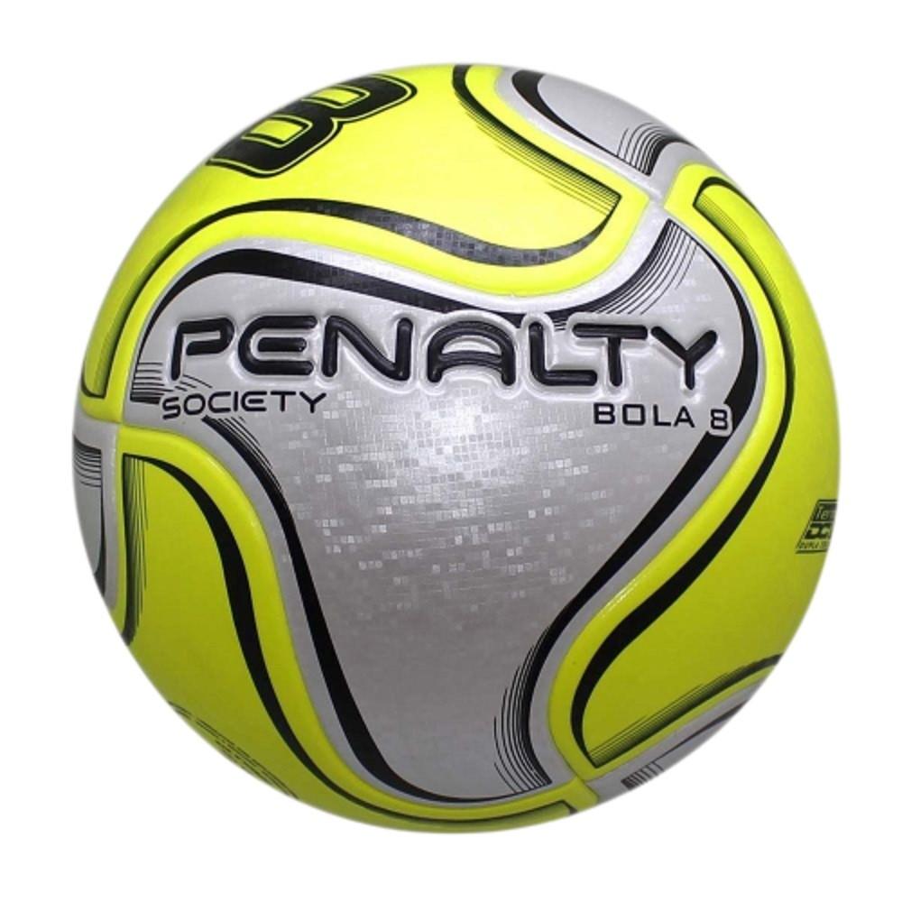 Bola Society Penalty 8 X Branco Amarelo