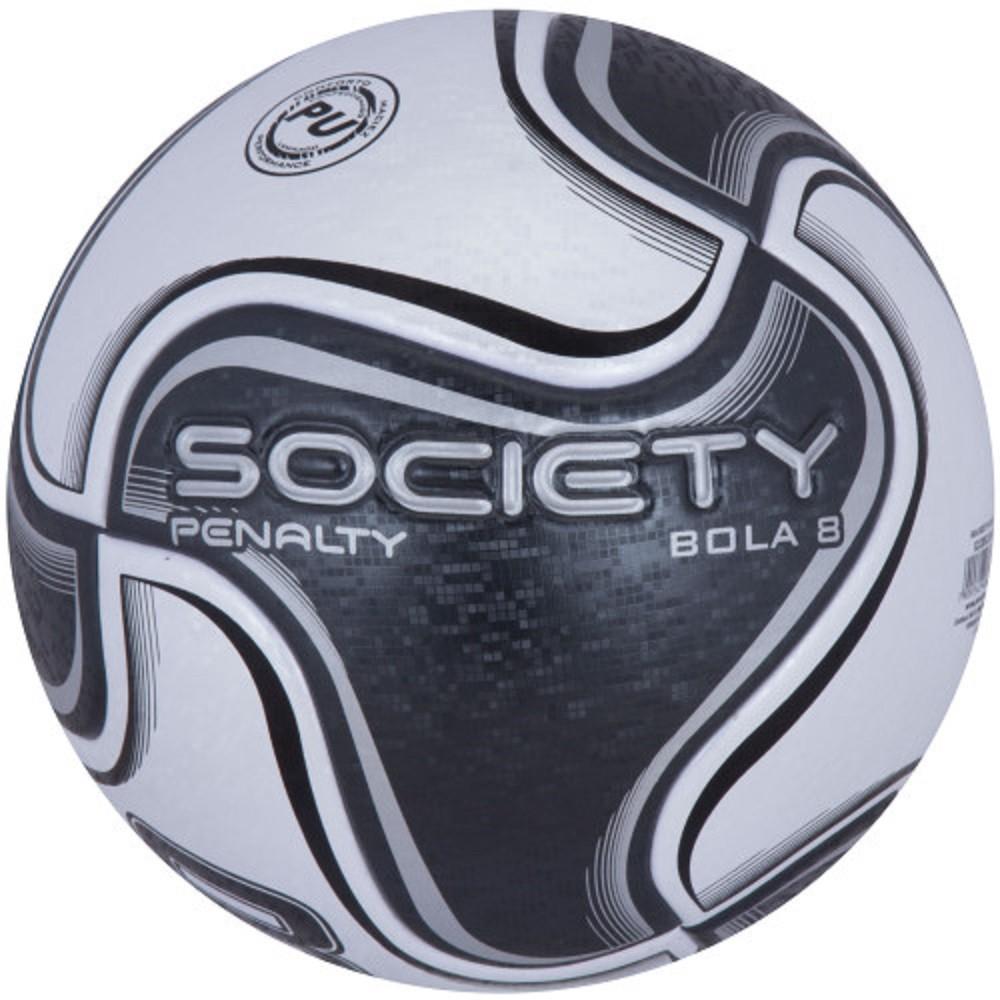 Bola Society Penalty 8 X Branco Preto