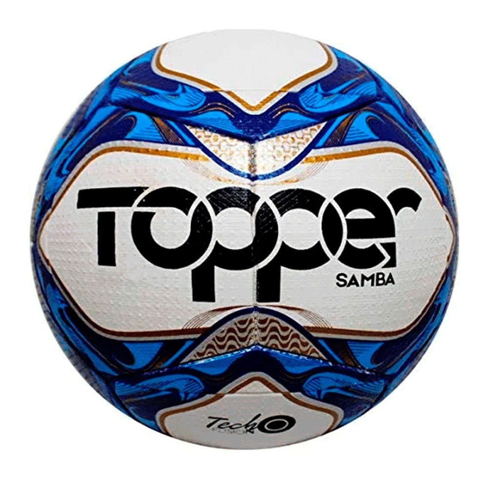 Bola Topper Futsal Samba TD2 Branca Azul