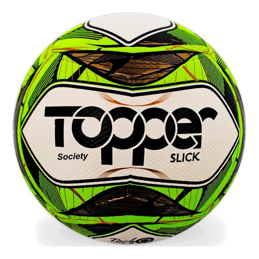 Bola Topper Society Slick II Branco Verde