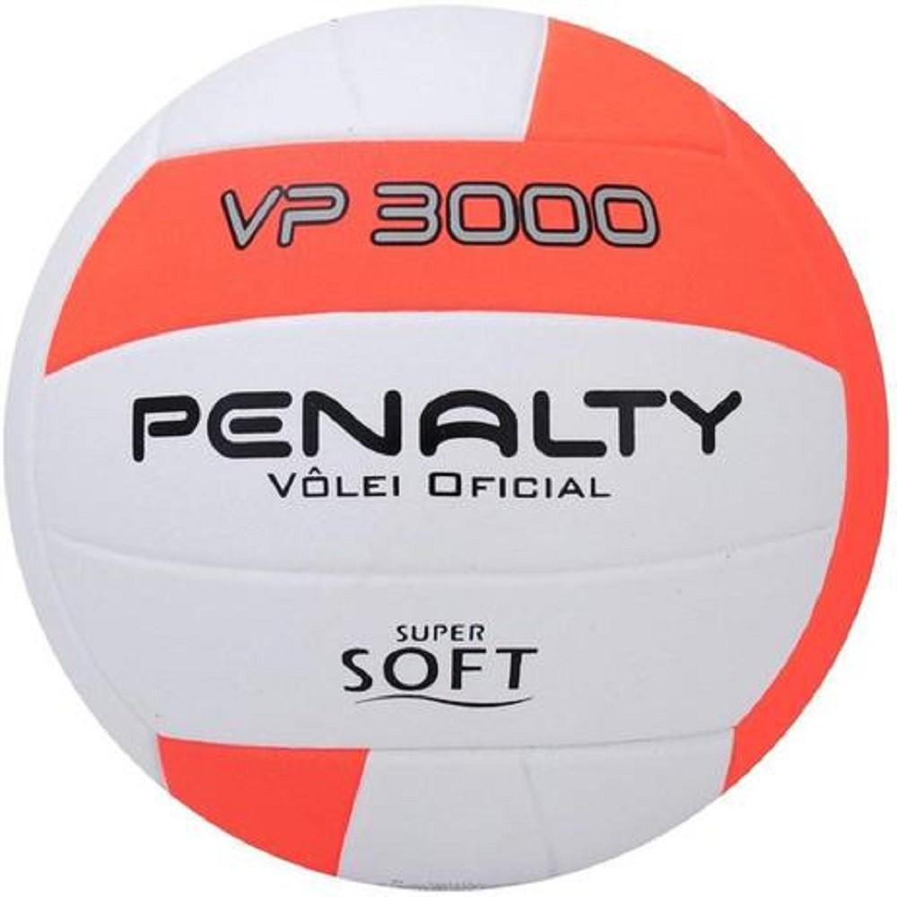 Bola Vôlei Penalty VP 3000 X Branco Laranja