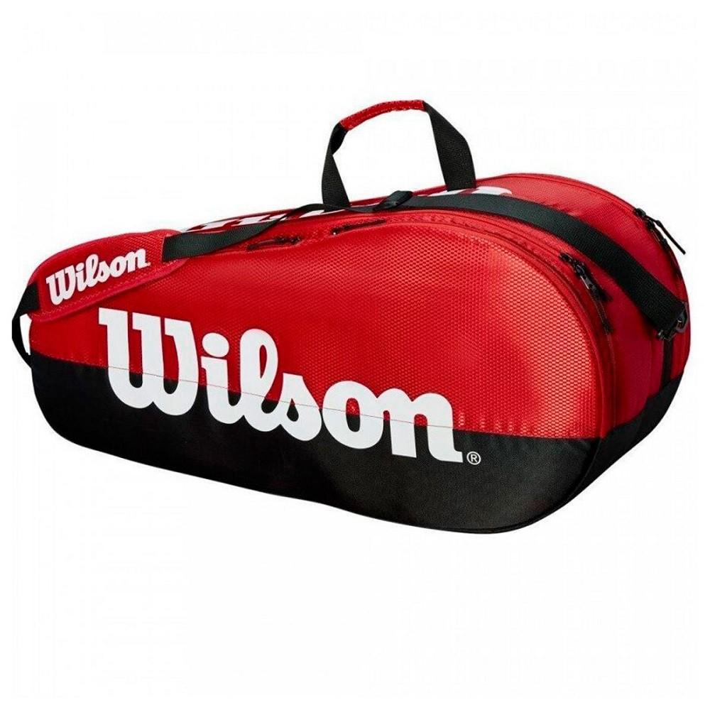 Bolsa Wilson Team 2Comp 6Pack Vermelho Preto