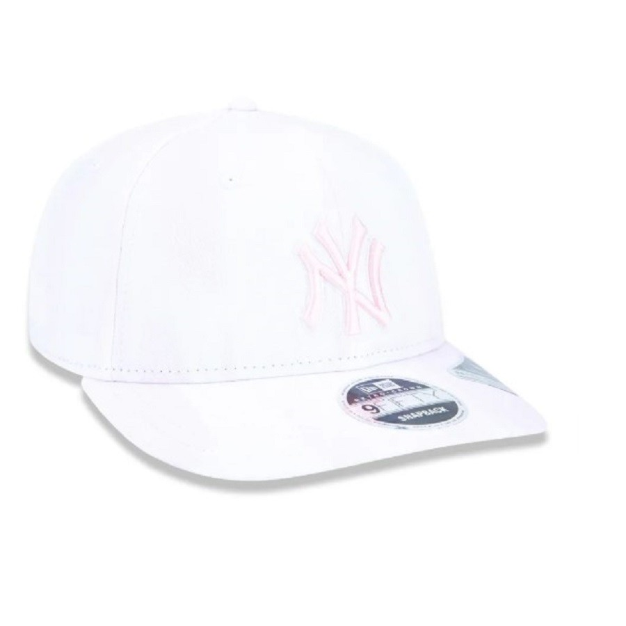 Boné 9fifty Aberto New York Yankees MLB Rosa New Era