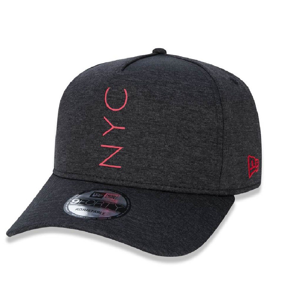 Boné 9Forty A-frame New York City Preto Vermelho New Era