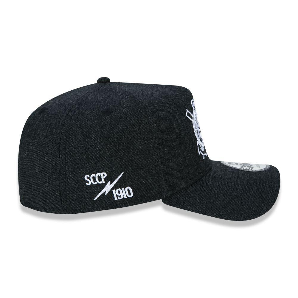 Boné 9Forty A-frame Trucker Corinthians Heather Preto New Era