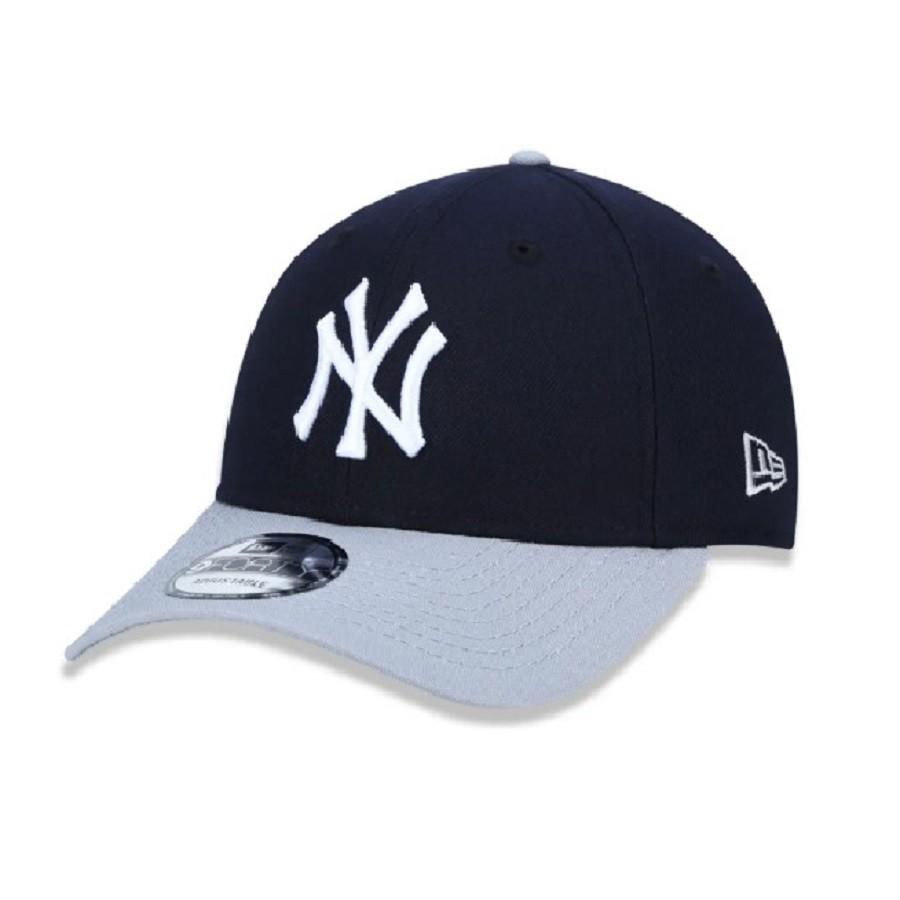 Boné 9Forty MLB New York Yankees Team Color Marinho Cinza New Era