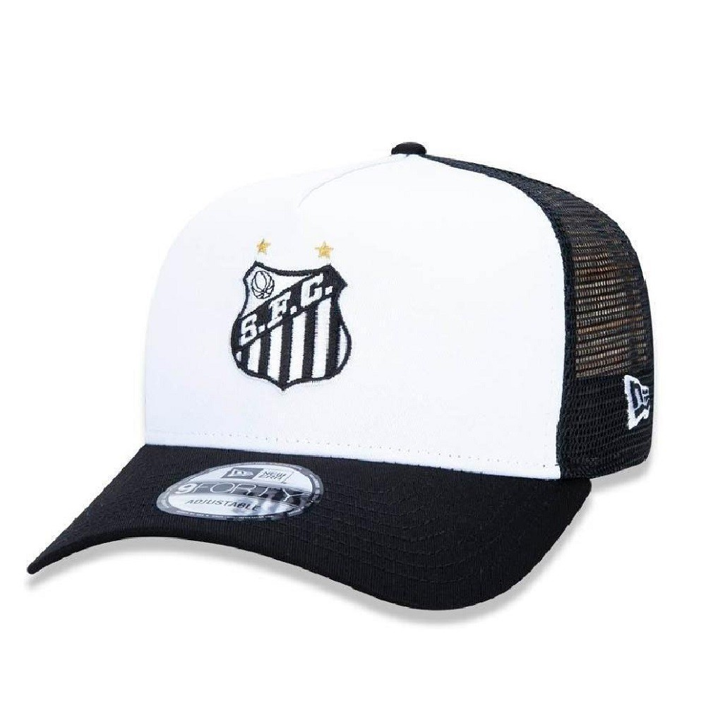 Boné 9Forty Santos Preto Branco New Era