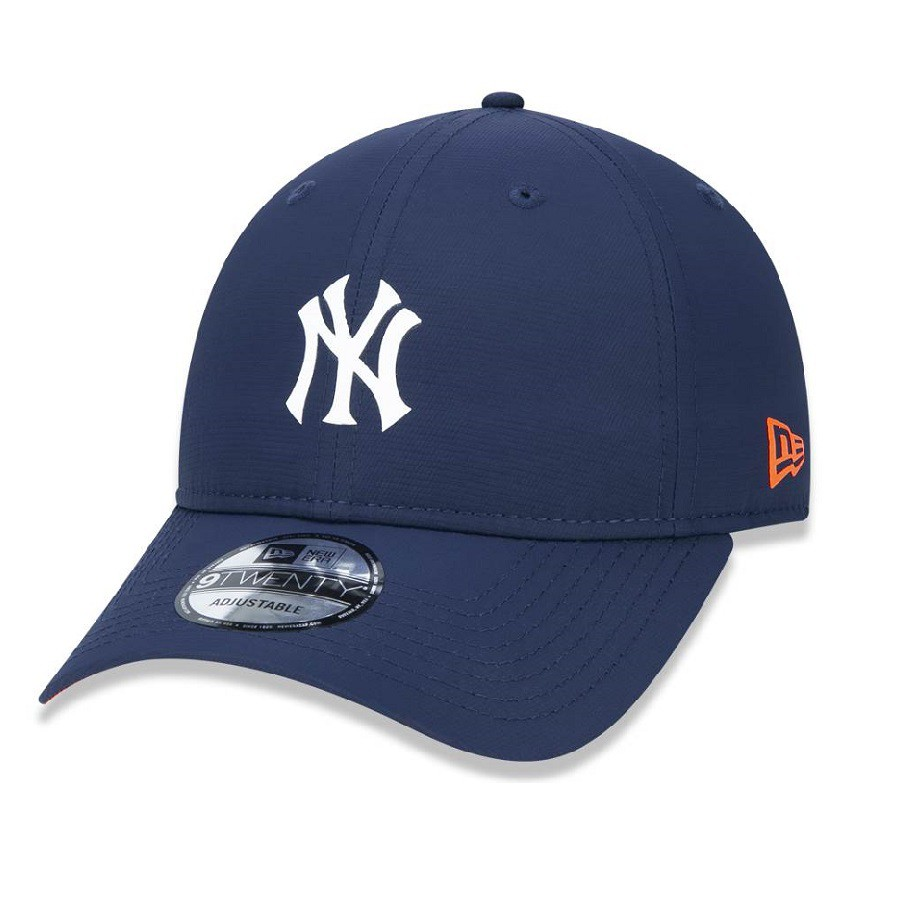 Boné 9twenty New York Yankees Mlb Aba Curva Strapback Marinho New Era