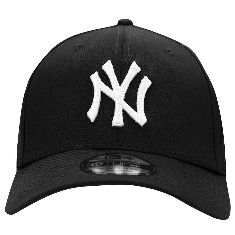 Boné New Era 39THIRTY High Crown New York Yankees Preto Branco