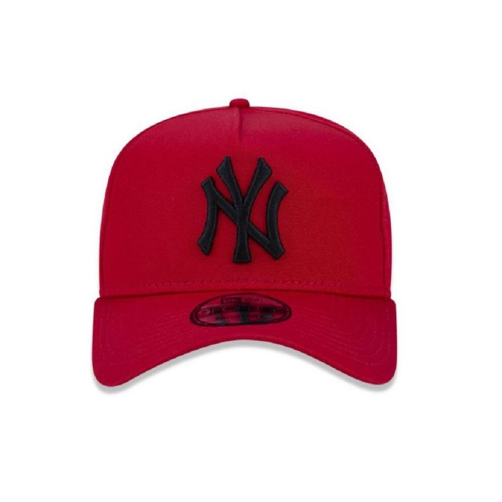 Boné New Era 940 Aba Curva Yankees Snapback Vermelho