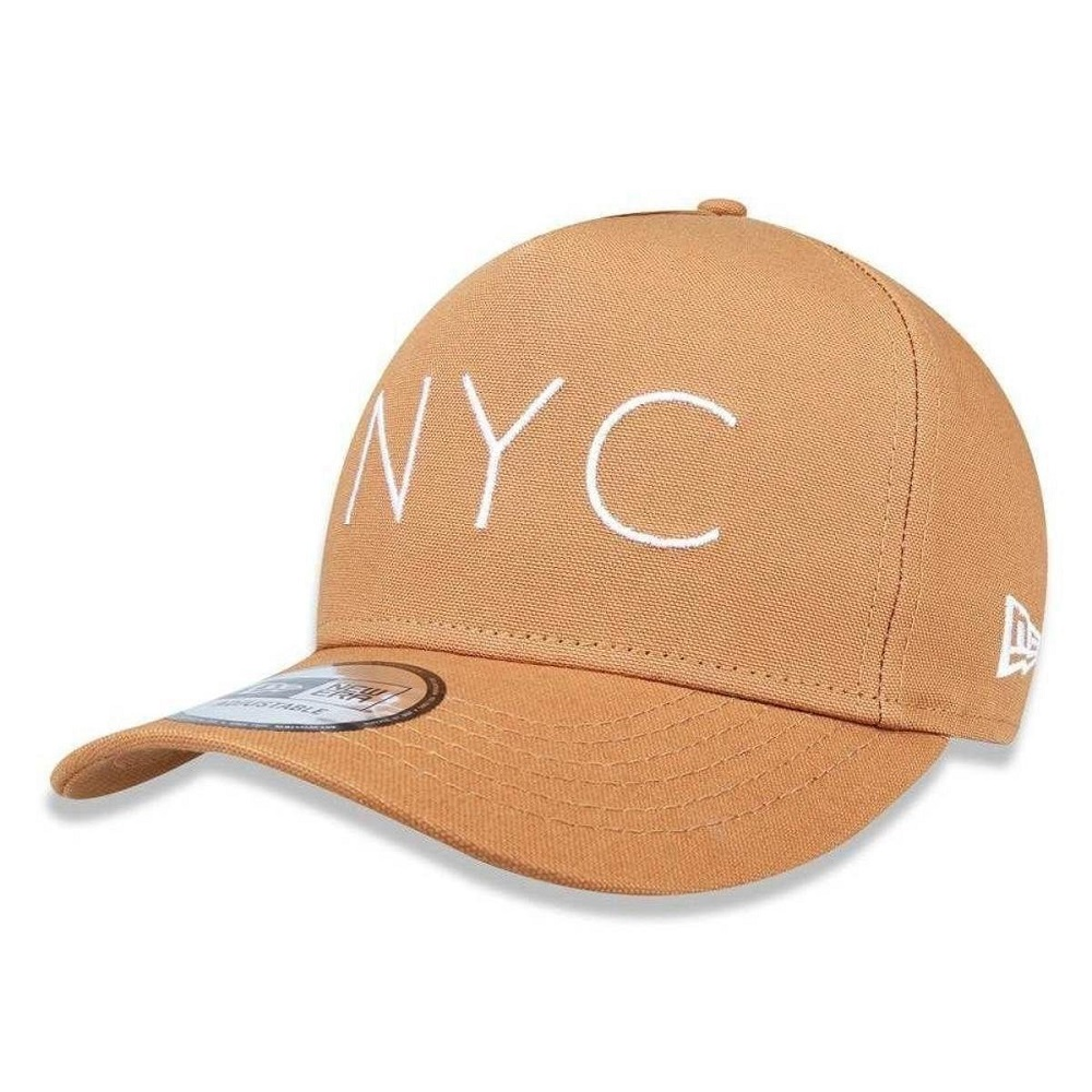 Boné New Era 940 Nyc New York City Kaki
