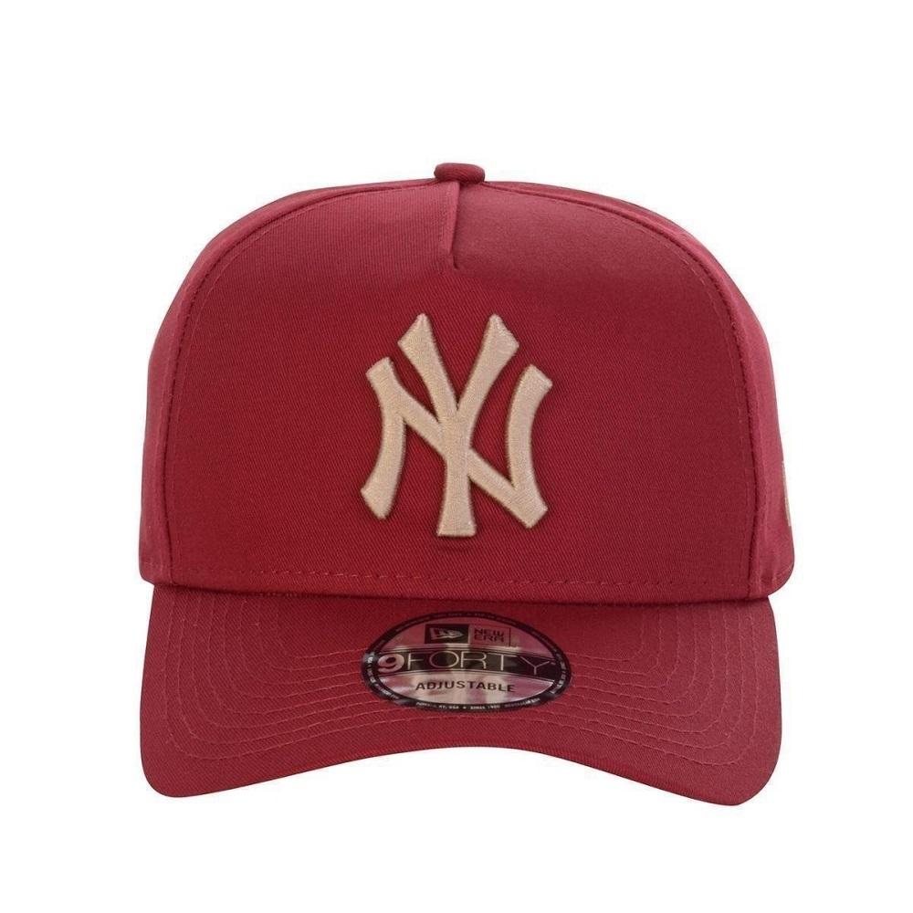 Boné New Era New York Yankees 940 Veranito Logo Vermelho Dourado