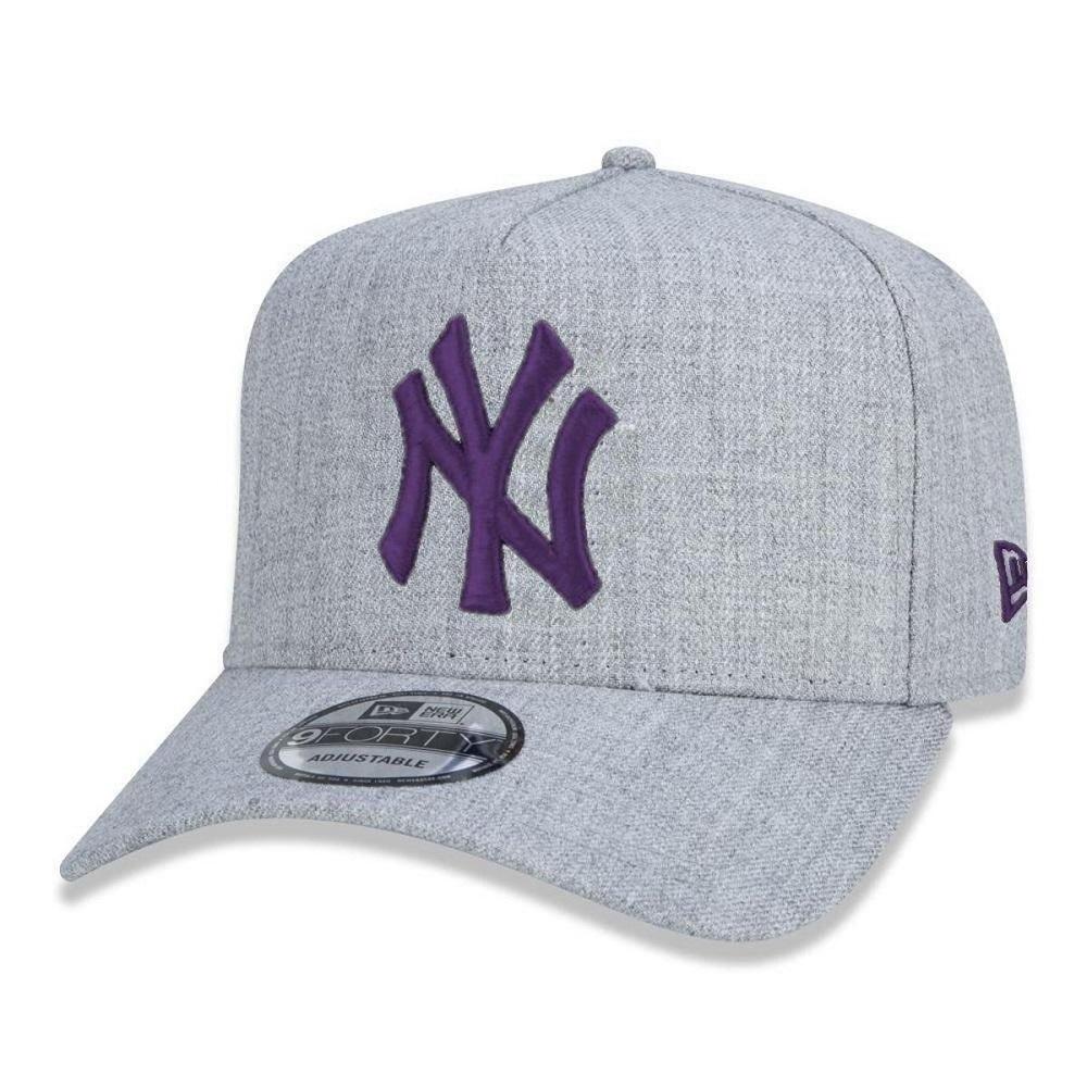 Boné New Era New York Yankees 9Forty A-Frame Cinza Roxo