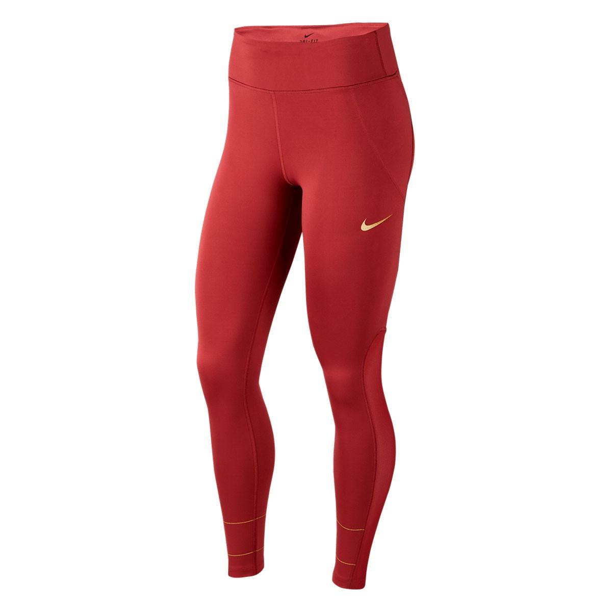 Calça Nike Fast Tight Glam Dunk Feminino Vermelho