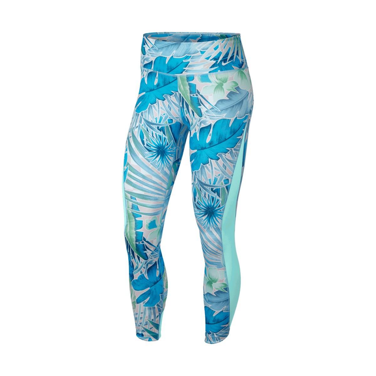 Calça Nike Legging Hyperflora Feminina Azul