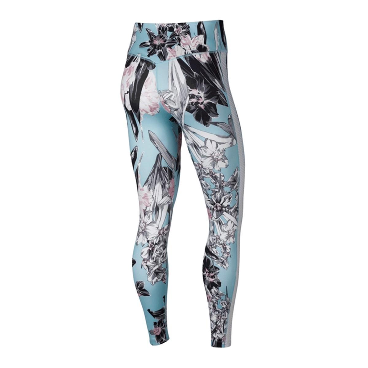 Calça Nike Legging Hyperflora Feminina Preto Azul