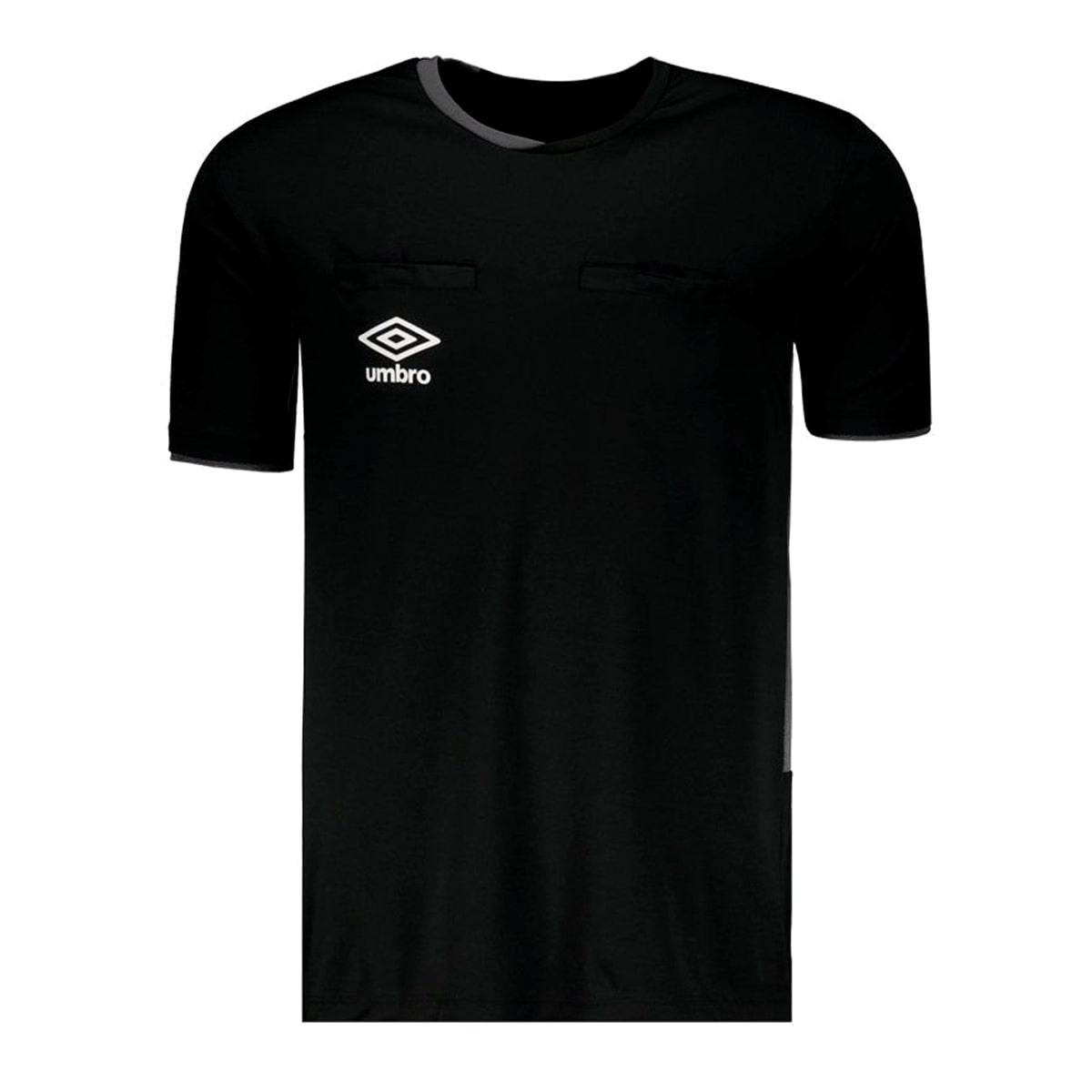 Camisa Arbitro Umbro TWR Fit Preto