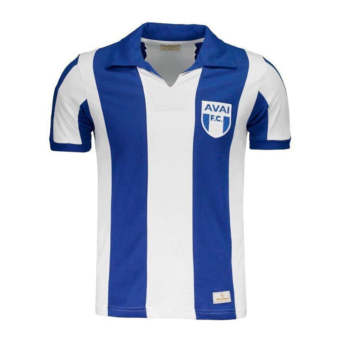 Camisa Avaí 1960 Azul Branco Retrô