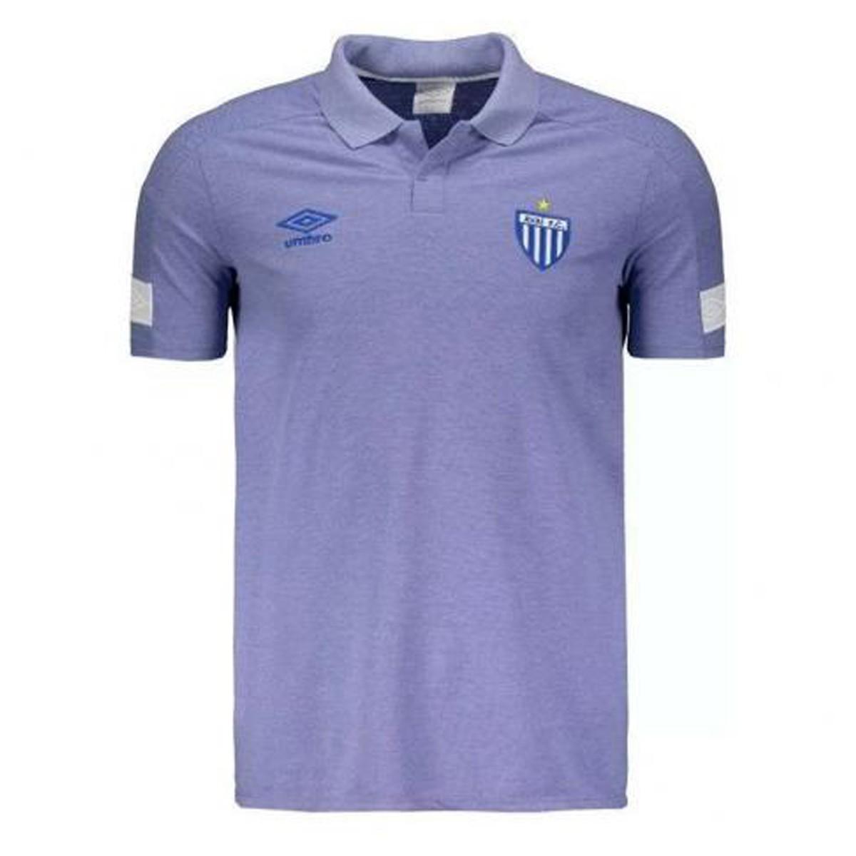 Camisa Avaí Polo Umbro Viagem 2018-19 Azul