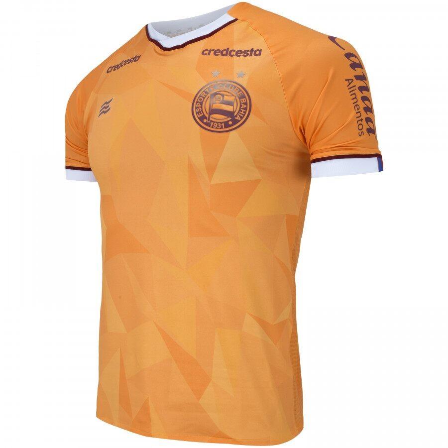 Camisa Bahia Goleiro Of. 3 20/21 Esquadrão Masculina Laranja