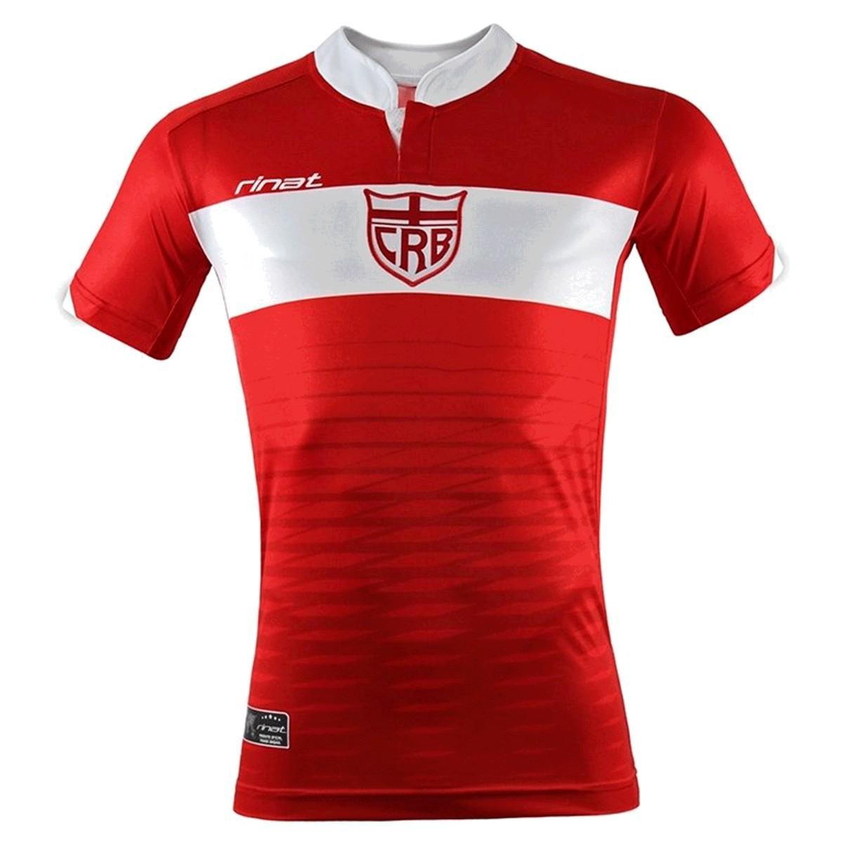 Camisa CRB Alagoas Rinat Oficial Jogo II 2016 - Vermelho