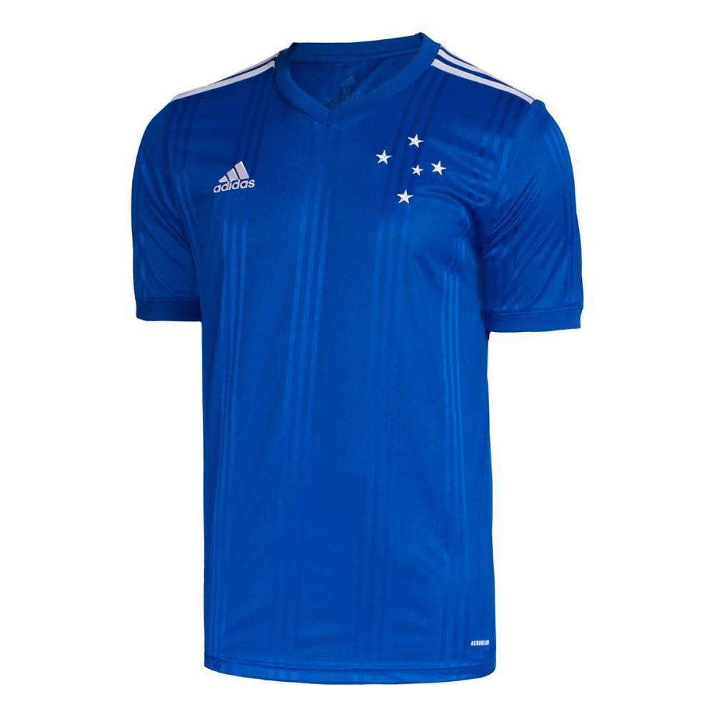 Camisa Cruzeiro Of.1 20/21 s/nº Torcedor Adidas Masculina Azul