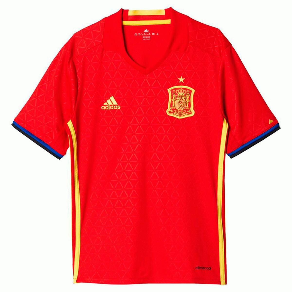 Camisa Espanha Adidas 2016-2017 - Vermelho - Infantil