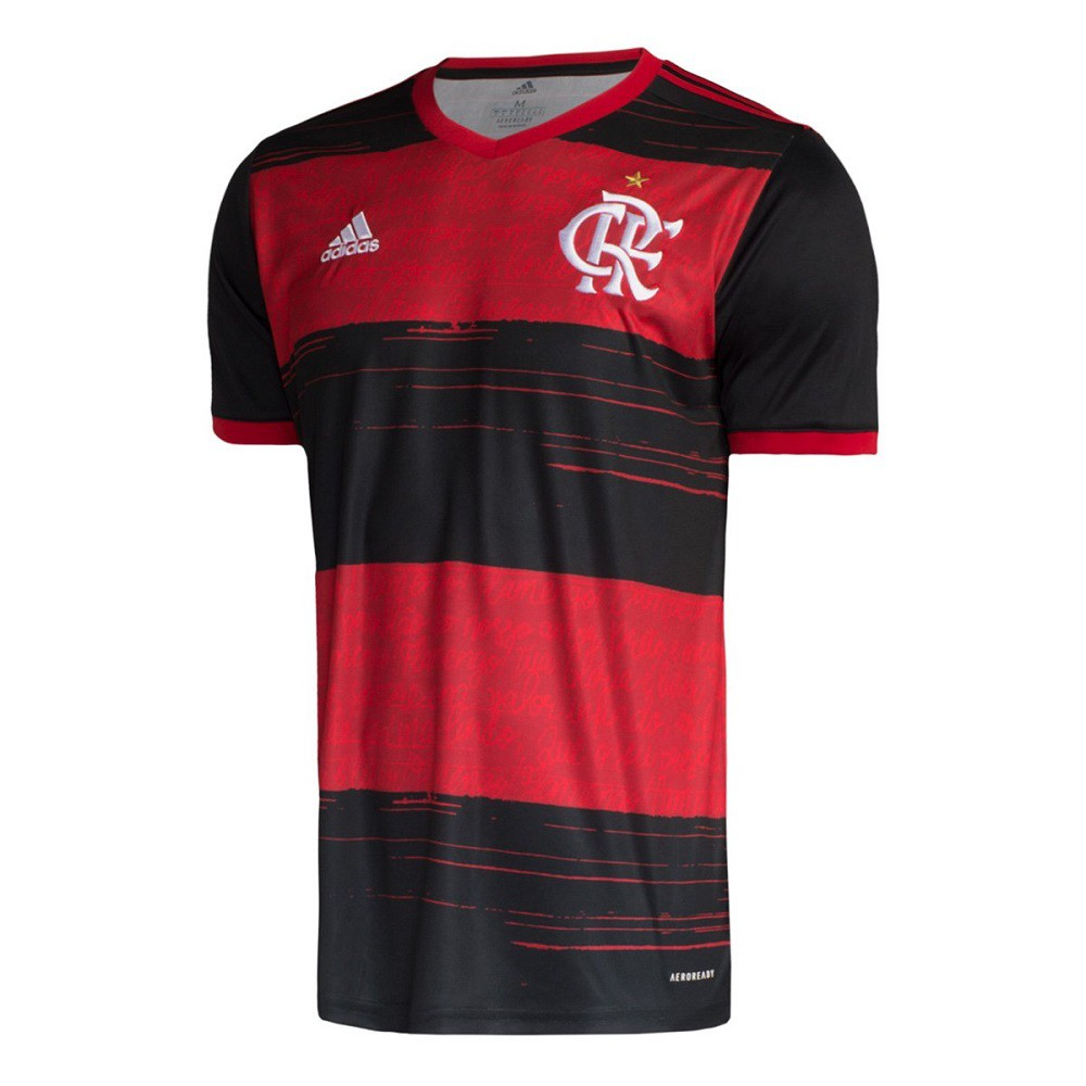 Camisa Flamengo Of.1 20/21 s/n° Torcedor Adidas Masculina