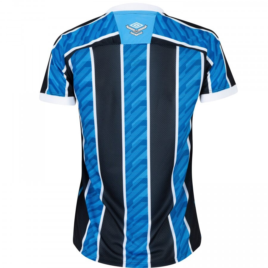Camisa Grêmio Umbro Of. 1 20/21 Torcedora Tricolor Feminina