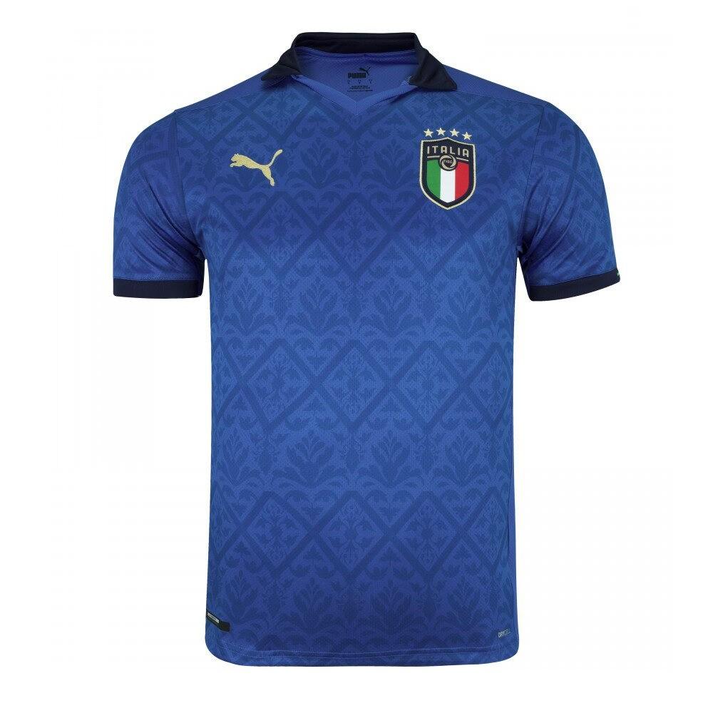 Camisa Itália Torc.Puma Home 20/21 S/Nº Masculina Azul