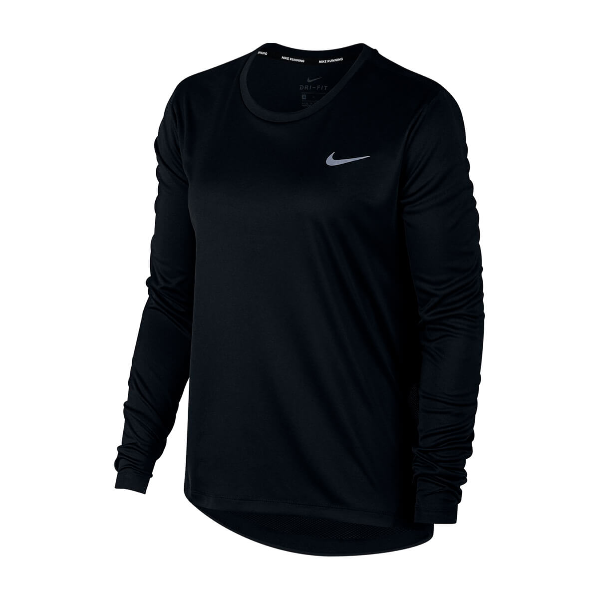 Camisa Nike Manga Longa Dry Miller Top Preto