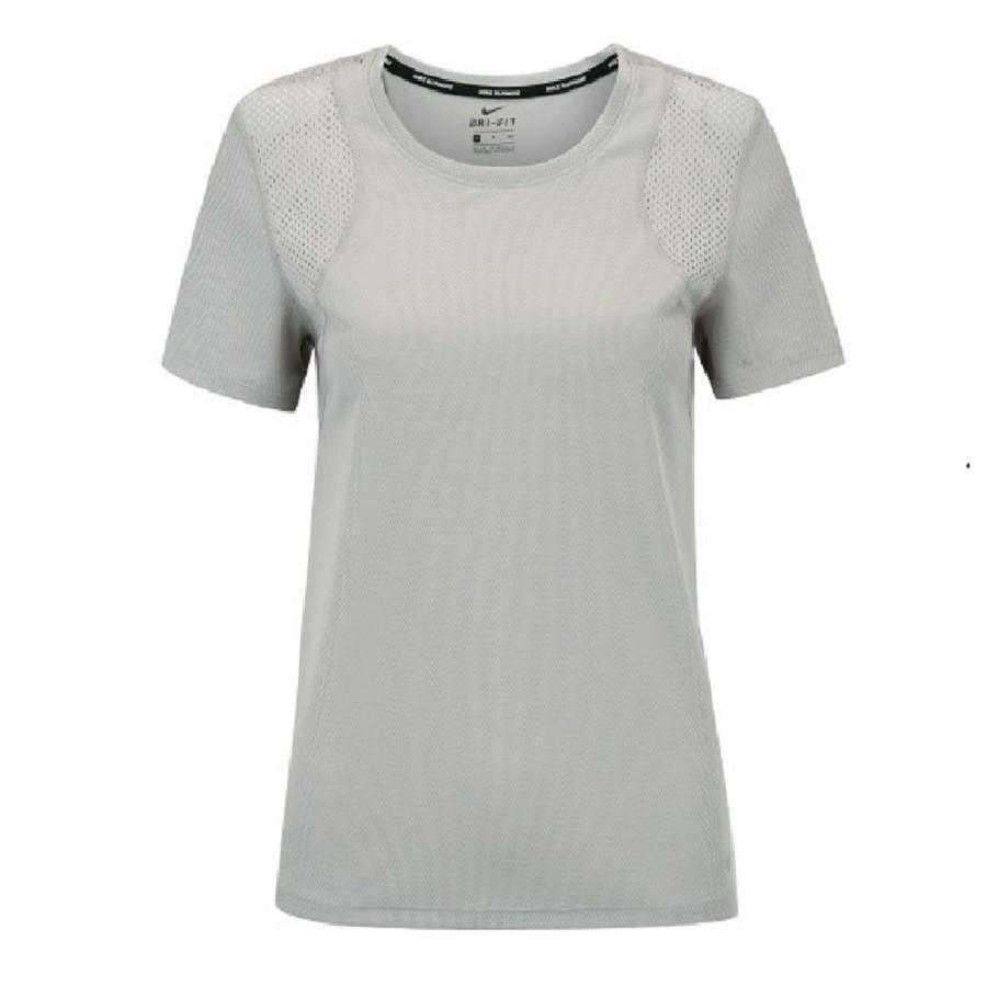 Camisa Nike Run Top SS Feminina Cinza