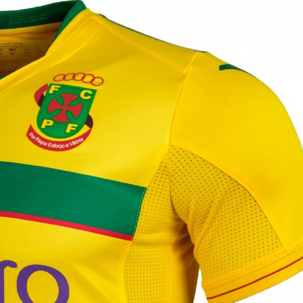 Camisa Paços Ferreira Joma Home 20/21 Masculino Amarelo