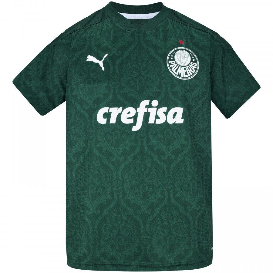 Camisa Palmeiras Juvenil Of.1 20/21 s/n° Torcedor Puma Verde