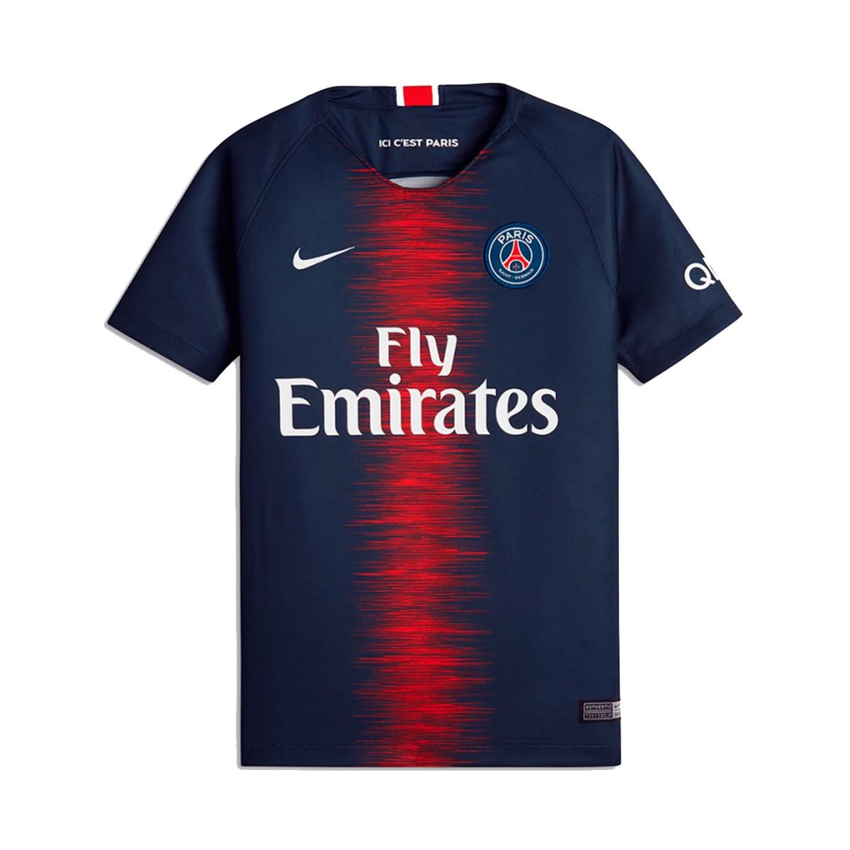 Camisa Paris Saint-Germain I Nike Torcd Inf SN 18/19