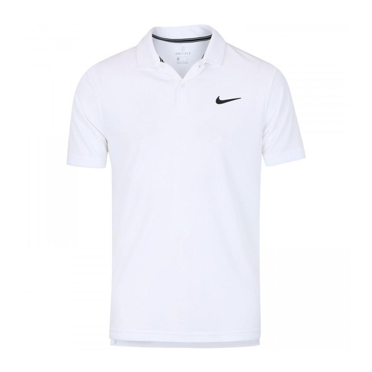 Camisa Polo Nike Dry Team Masculina Branca