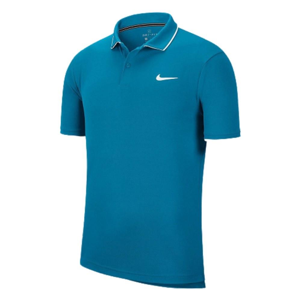 Camisa Polo Nike Manga Curta Nkct Dry Fa20 Masculino Azul