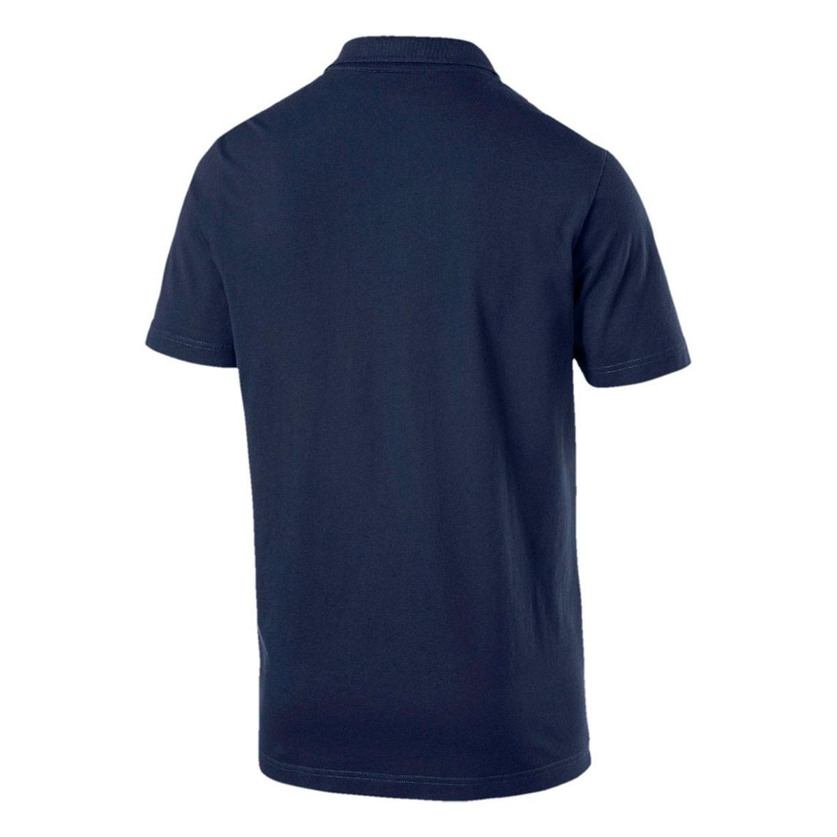 Camisa Polo Puma ESS Jersey Masculina - Marinho