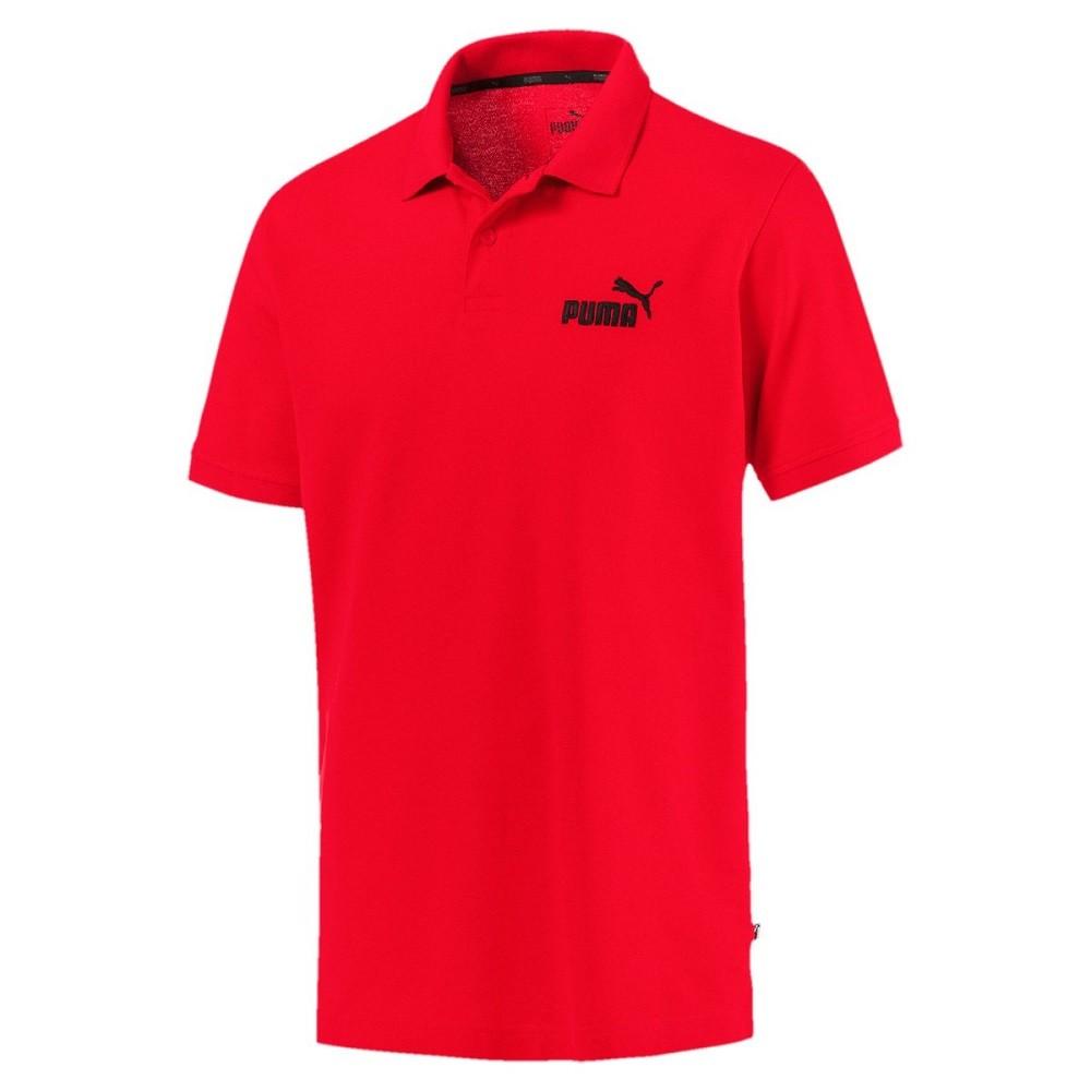 Camisa Polo Puma ESS Pique Masculino Vermelho