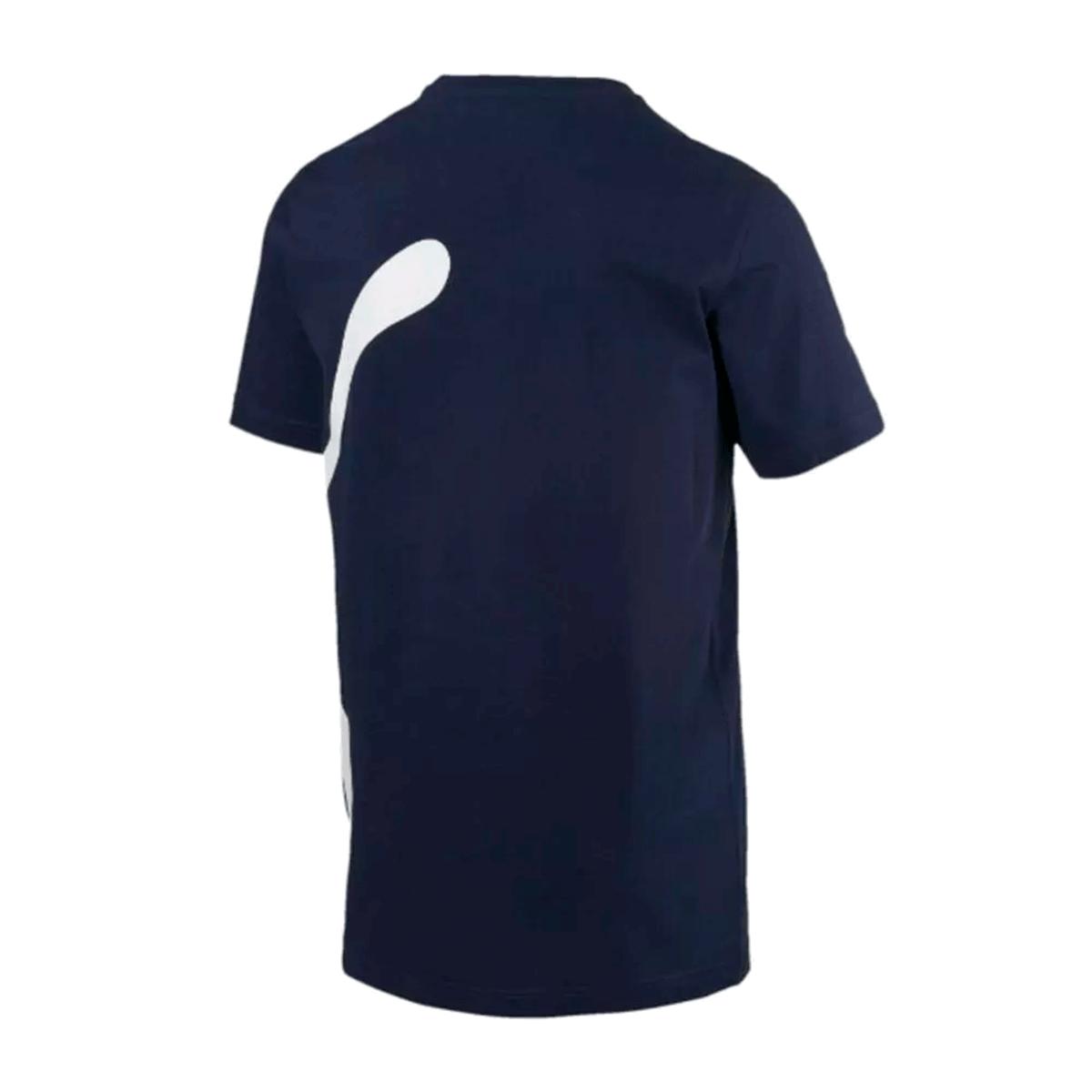 Camisa Puma Big Logo Tee Masculino Azul Marinho